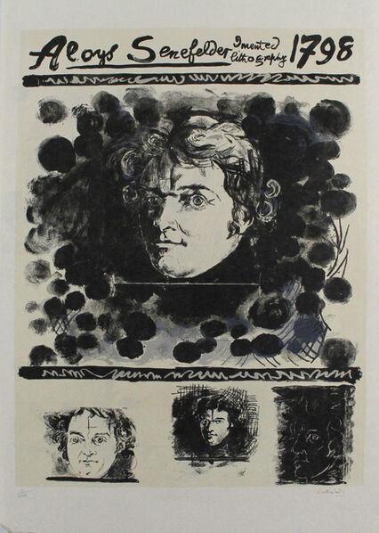 Graham Vivien Sutherland, 'Portrait Of Aloys Senefelder', 1971
