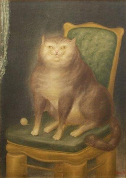 Fernando Botero, 'The Cat', 1969