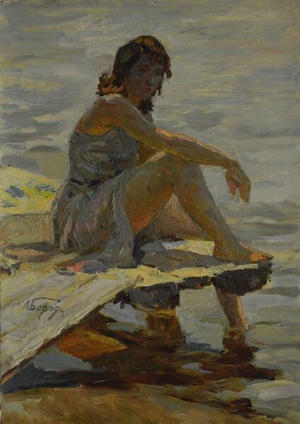 Aleksey Ivanovich Borodin, 'Bathing', 1957