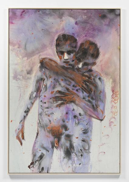 Andrej Dubravsky, 'Two friends with orange hands', 2020