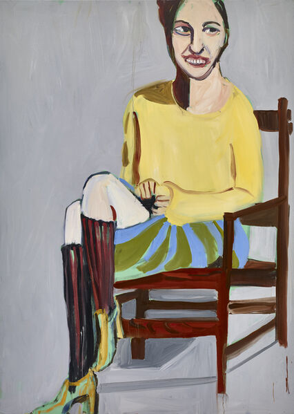 Chantal Joffe, 'Yellow Sweater and Knee Socks', 2016