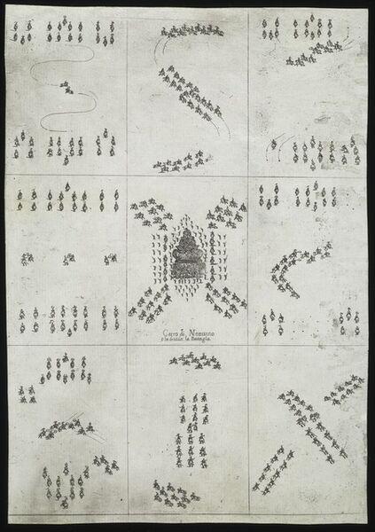 Stefano Della Bella, 'Carro di Nettunno che diuide la battaglia', 1652