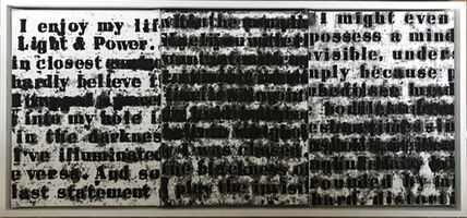 Glenn Ligon, 'Prologue Series #1 (Text from Ralph Ellison)', 1991