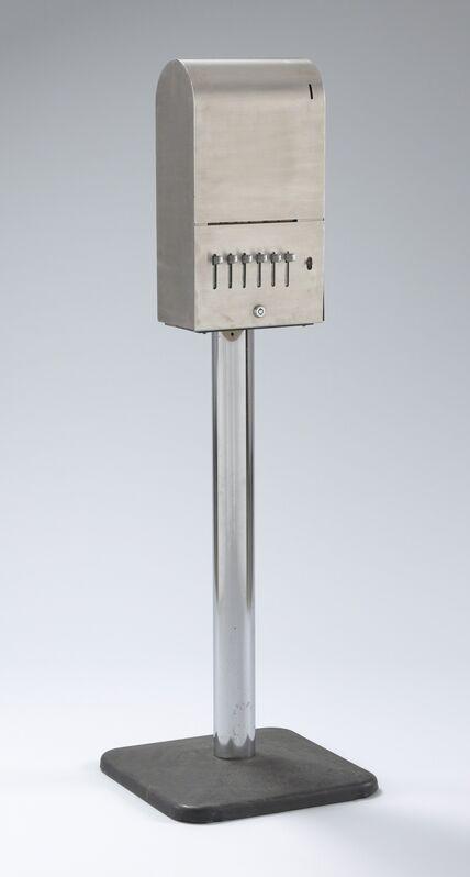Yoko Ono, 'Sky Machine', 1961-1966, Sculpture, Stainless steel dispenser, metal pedestal, and handwritten cards, The Museum of Modern Art