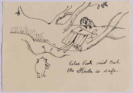 Karen Finley, 'Relax Pooh said Owl...', 1998