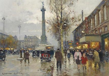 Edouard Léon Cortès, 'La Place de la Bastille, Paris'', 1882-1969
