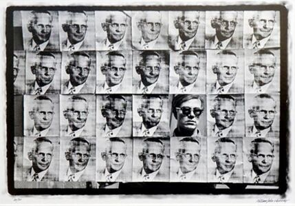William John Kennedy, 'Andy Warhol Looking Through American Man', Executed: 1964-Printed: 2010