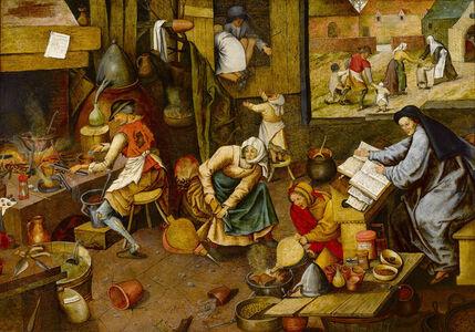 Pieter Bruegel the Younger, 'The Alchemist', ca. 1600