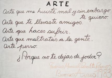 Federico Manuel Peralta Ramos, 'ARTE', 1983