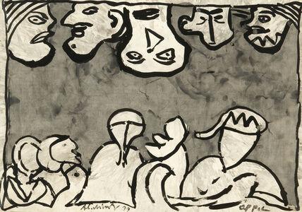 Pierre Alechinsky, 'À l'envers', 1977