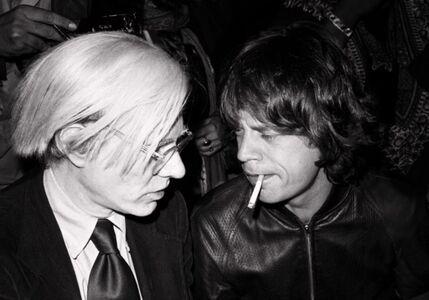 Lynn Goldsmith, 'Andy Warhol Mick Jagger ', 1977