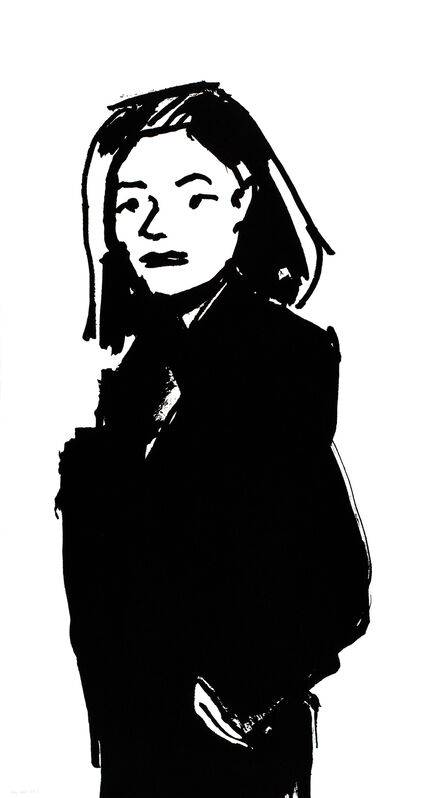 Alex Katz, 'Shopper #3', 2015, Print, 1-color silkscreen on Saunders Waterford 425 gsm paper, Haw Contemporary