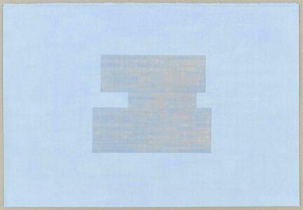 Julia Fish, 'Study for Threshold - Plan, North [ blue with orange on blue ] # 2', 2017