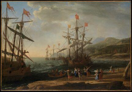 Claude Lorrain, 'The Trojan Women Setting Fire to Their Fleet', ca. 1643