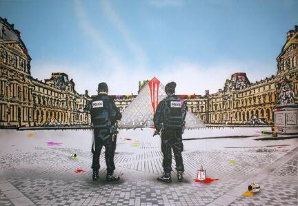 Nick Walker, 'Vandal VS the Louvre', 2019