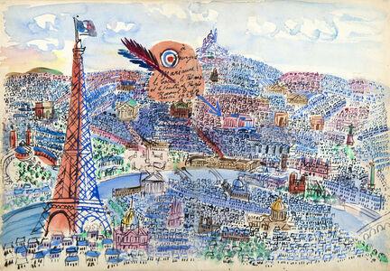 Raoul Dufy, 'Le Coeur, le Palais et le Ventre de Paris', 1924