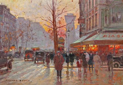 Edouard Léon Cortès, 'Porte St. Martin, Paris', ca. 1930