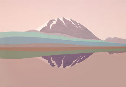 Helen Lundeberg, 'Two Mountains', 1990