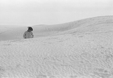 Thomas Hoepker, 'Heartland, Cowboy in dunes, White Sands National Park, USA', 1963