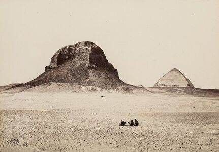 Francis Frith, 'Pyramids of Dashoor', 1856