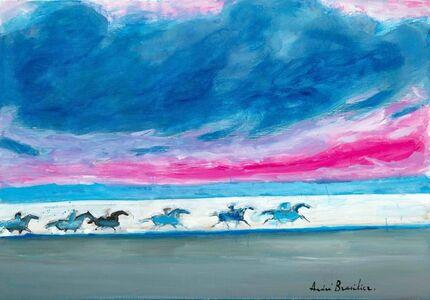 Andre Brasilier, 'La course du soir ', 2019