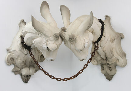 Beth Cavener, 'Committed (Two Goat Heads)', 2015