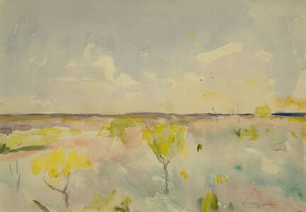 Charles Webster Hawthorne, 'Young Mesquite Trees', 1928