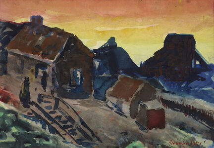 George Benjamin Luks, 'Shanty Shacks, Pottsville, Pennsylvania', ca. 1925