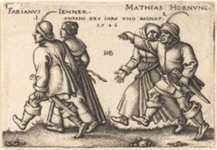 Sebald Beham, 'January and February', 1546