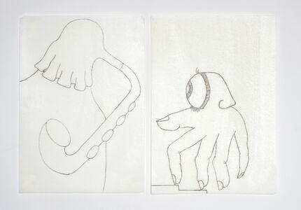 Eduardo Navarro, 'Metabolic Drawings' I, 2018 and Metabolic Drawings' III', 2018