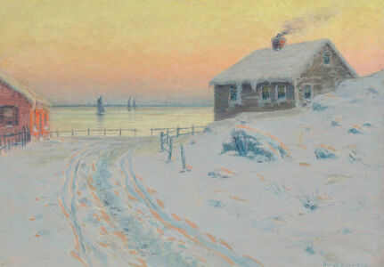 Lovell Birge Harrison, 'Hunter's Cabin on the St. Lawrence'