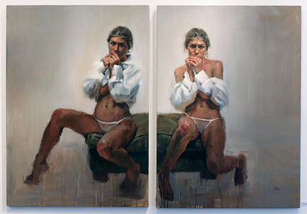 Jorg Dubin, 'Seated Twins', 2005