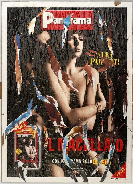 Mimmo Rotella, 'Amanti', 2000
