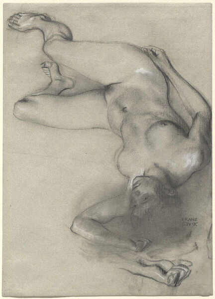 Franz von Stuck, 'Nude Woman Lying on the Ground', 1896