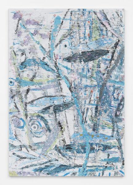 Johannes VanDerBeek, 'Primitive Landscape (Curling Blue Branch)', 2015