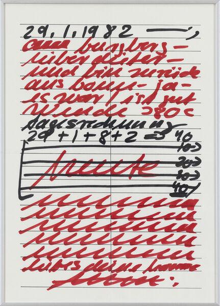 Hanne Darboven, 'Untitled', 1982