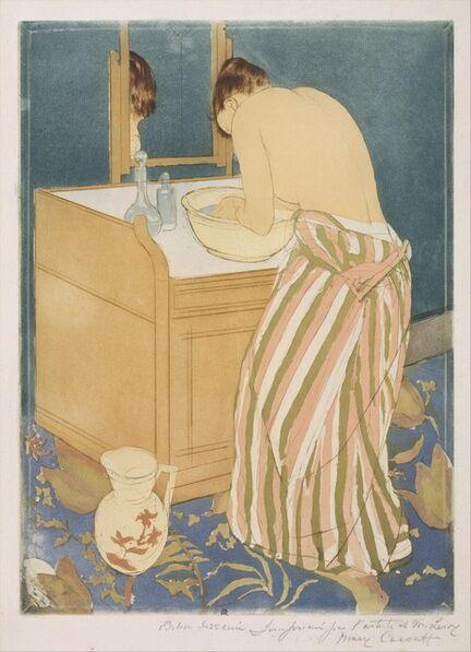 Mary Cassatt, 'Woman Bathing (La Toilette)', 1890–1891