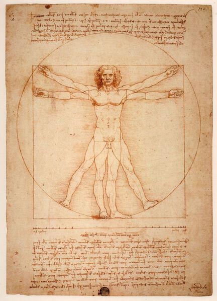 Leonardo da Vinci, 'Vitruvian Man', ca. 1409
