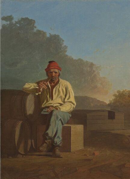 George Caleb Bingham, 'Mississippi Boatman', 1850