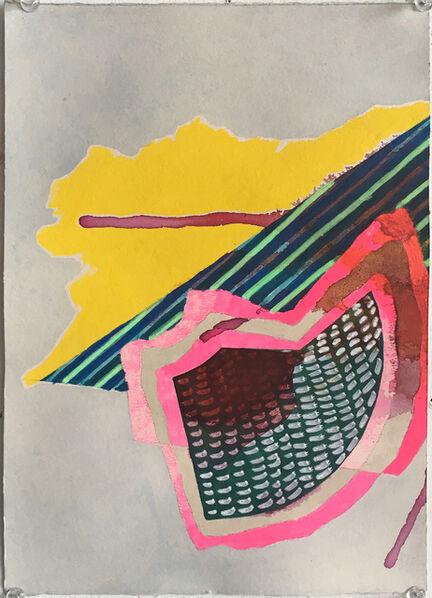 Mark Joshua Epstein, 'Untitled (grey and yellow)', 2016