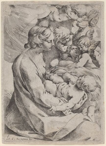 Lodovico Carracci, 'Madonna and Child with Angels', ca. 1595/1610