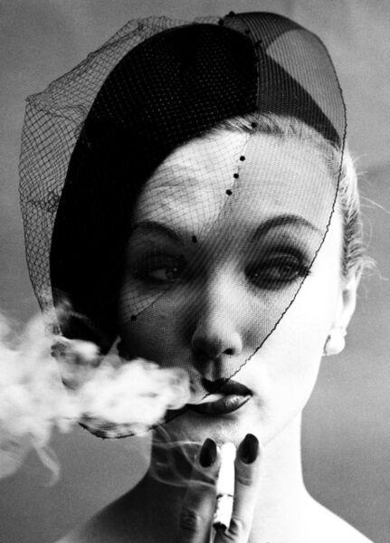 William Klein, 'Smoke + Veil, Paris (Vogue)', 1958