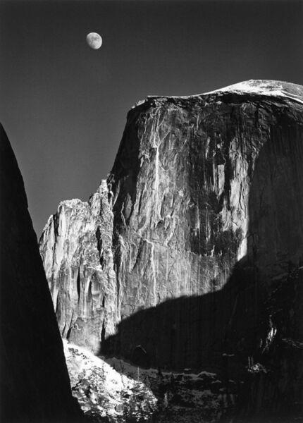Ansel Adams, 'Moon and Half Dome, Yosemite National Park, Ca.', 1960 (Printed mid 1970's)