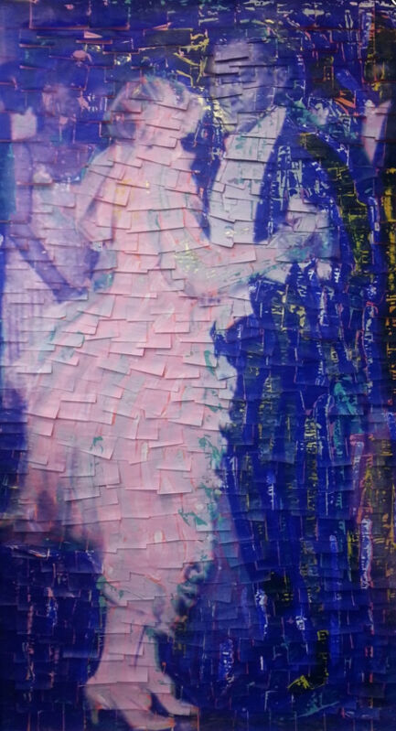 Ardan Özmenoğlu, 'Dancers I', 2016, Mixed Media, Print on post-its, Quidley & Company