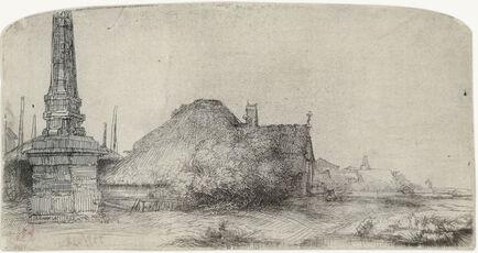 Cottage and Obelisk on the Spaarndammerdijk