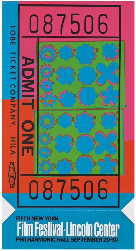 Andy Warhol, 'Lincoln Center Ticket (Feldman II.19)', 1967, Print, Original Color Serigraph, NCAG
