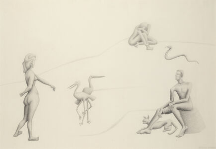 Stella Snead, 'Untitled (figures with animals)', ca. 1938