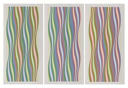 Bridget Riley, 'Green, Blue and Red Dominance', 1977