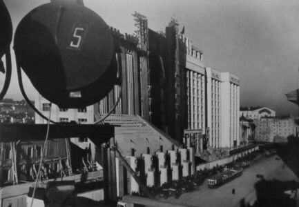 Yakov Khalip, 'Construction of S.T.O. (Labor and Defense Council) building', 1934