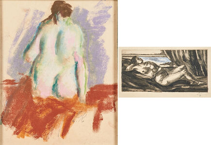 Leon Kelly, 'Two works of art:  Untitled (Nude); Untitled (Reclining Nude)'